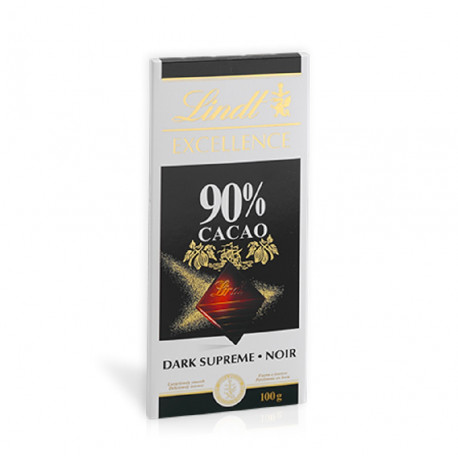 Lindt Excellence 90% Cocoa Dark Chocolate 100g