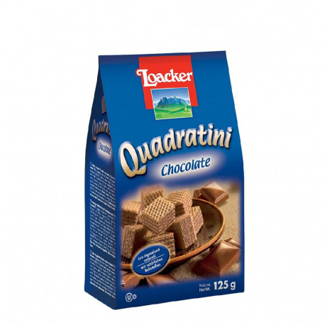 Loacker Quadratini Chocolate Wafer 125g