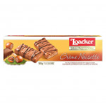 LOACKER PATISSERIE CRÈME NOISETTE MILK CHOCOLATE BISCUITS WITH HAZELNUT CREAM 100G