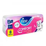 Fine Comfort Toilet paper 2Ply 8 Rolls