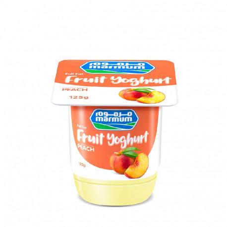Marmum Fresh Peach Fruit Yoghurt 125G