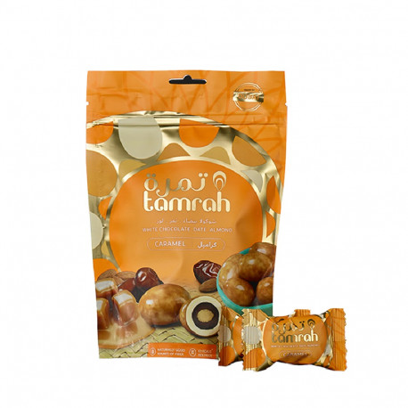 BEST TAMRAH CARAMEL CHOCOLATE COVERED DATE WITH ALMOND 100G