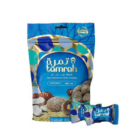 Best Tamrah Coconut Chocolate Covered Date With Almond 100g
