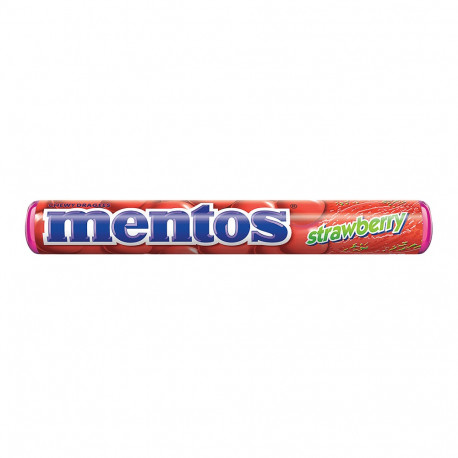Mentos Strawberry Chewy Dragees 38g
