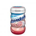 Mentos White Gum Strawberry Bottle