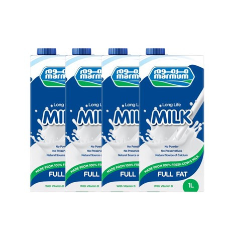 Marmum UHT Full Fat Milk 1 Ltr X 4