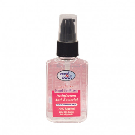 Cool & Cool Hand Sanitizer Disinfectant and Antibacterial 70% Alcohol 60ML