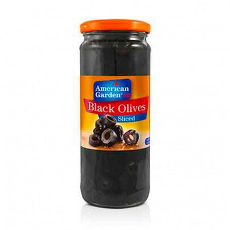 American Garden Black Sliced Olives 450G