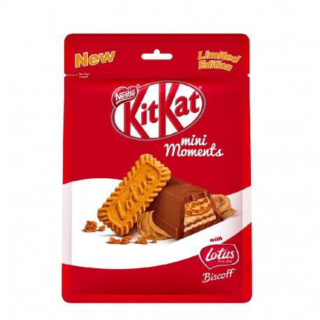 KitKat Mini Moments Chocolate with Lotus Pouch 122.5G