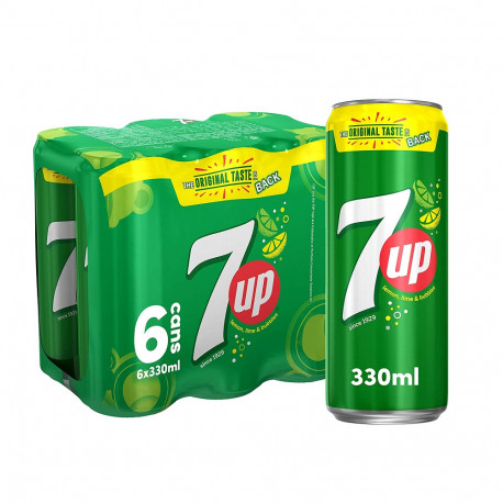 7up Regular Pack 6x330ML