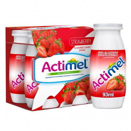 Actimel Strawberry Dairy Drink 4x88ml