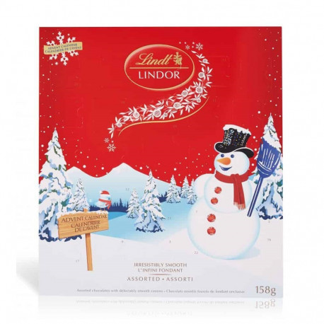Lindt Lindor Snowman Calendar 158g