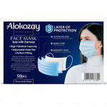 Alokozay 3-Ply With Earloop Face Mask 50 Pieces