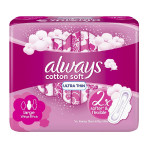 Always Cotton Soft 8 Ultra Thin Large Pads With Wings