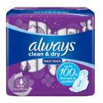 Always Dry & Clean Large with Wings 10 Pads