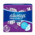 Always Clean & Dry 30 Large with Wings Sanitary Pads