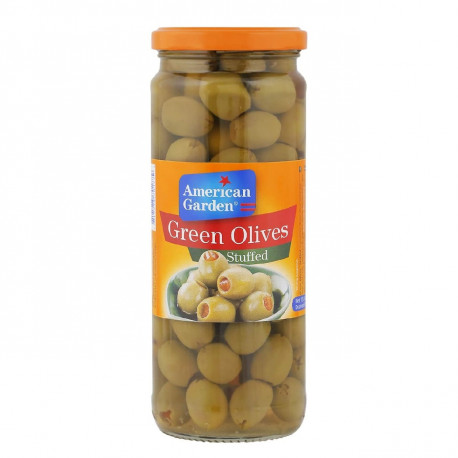 American Garden Stuffed Green Olives 260G