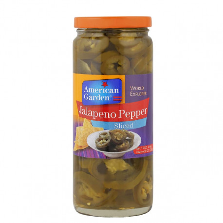 American Garden Sliced Jalapeno Peppers 454G