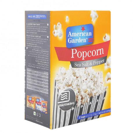 American Garden Sea Salt & Black Pepper Microwave Popcorn 273G