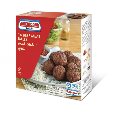Americana Beef Meat Balls 16 Pieces 400G