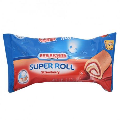 Americana Super Roll Strawberry Cake 60G