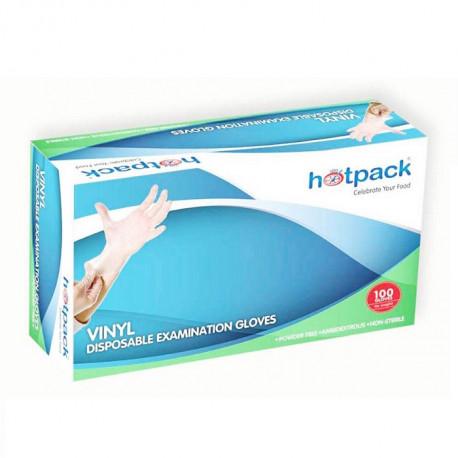 Hotpack Vinyl Examination Gloves 100 Pcs