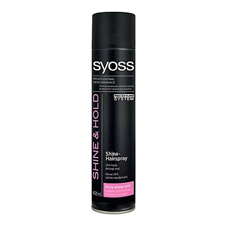 Syoss Hair Shine & Extra Strong Hold Hairspray 400ml
