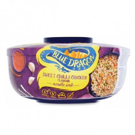 Blue Dragon Sweet Chili Chicken Flavored Noodle Wok 76G