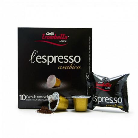 Caffe Trombetta L'espresso Italian Arabica 10 Coffee Capsules