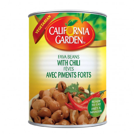 California Garden Peeled Fava Beans with Chilli 450G