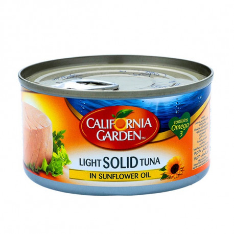 California Garden White Solid Tuna in Sunflower Oil 185G
