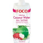 Foco Pure Coconut Water with Lychee 500ml