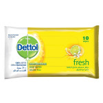 Dettol Fresh Anti-Bacterial Skin 10 Wipes