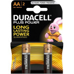 Duracell Plus Power Type AA Alkaline Battery 2 Pieces