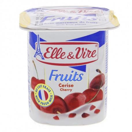 Elle & Vire Cherry Fruits Yoghurt 125G