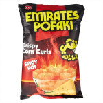 Emirates Pofaki Crispy Corn Curls in Can