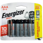 Energizer Max Alkaline Battery AAA 12 Pieces