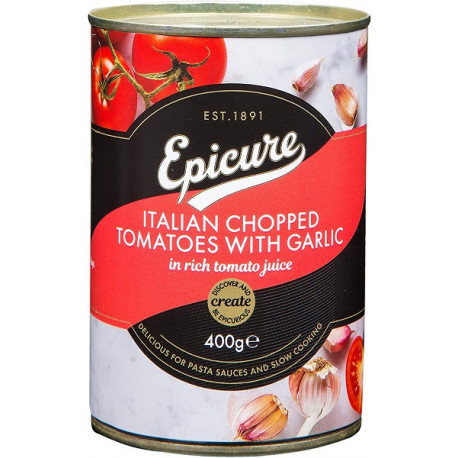 Epicure Italian Chopped Tomatoes with Garlic 400G