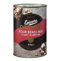 Epicure Organic Four Bean Mix in Water 400G