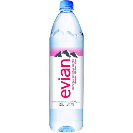 Evian Natural Mineral Water 1.25L