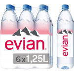 Evian Natural Mineral Water 6x1.25L