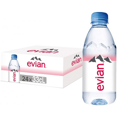 Evian Natural Mineral Water 24x330ML