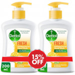 Dettol Fresh Hand Wash Twin Pack 200ML
