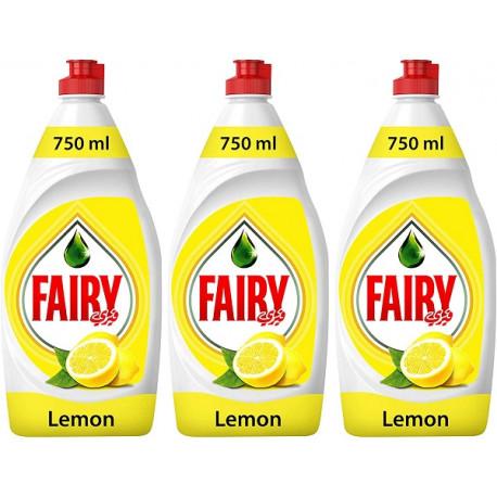 Fairy Lemon Hand Dishwashing Liquid 3X750ML