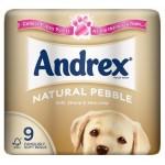 Andrex Natural Pebble 9 Toilet Tissue rolls