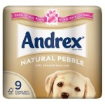 Andrex Natural Pebble 9rolls Toilet Tissue
