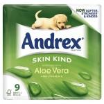 Andrex Skin Kind 9 Aloe Vera Toilet Tissue Rolls