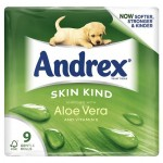 Andrex Skin Kind Aloe Vera 9rolls Toilet Tissue