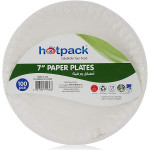 Hotpack 7 inch Disposable Multicolor Paper Plate 100 Pieces