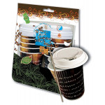 Fun Paper Cup 12oz with Lids & Stirrers 10 Pieces